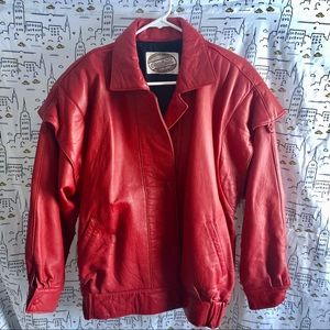 Vintage Overland Red Leather/Suede Jacket